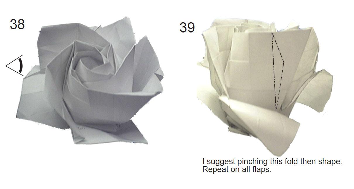 """оригами """"Роза Phy Tran 3""""."""